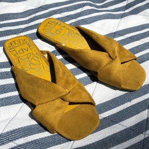 DOLCE VITA | Mustard Slide On Sandals Flats 8